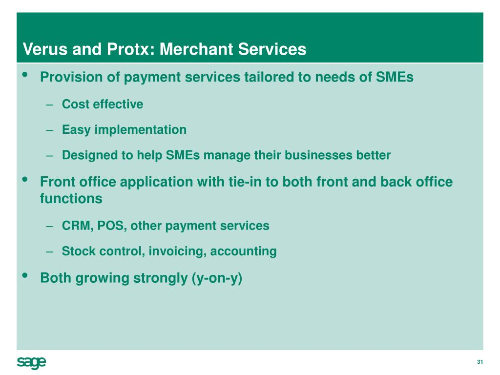Verus and Protx: Merchant Services