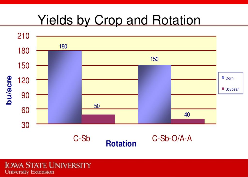Yields by Crop and Rotation
