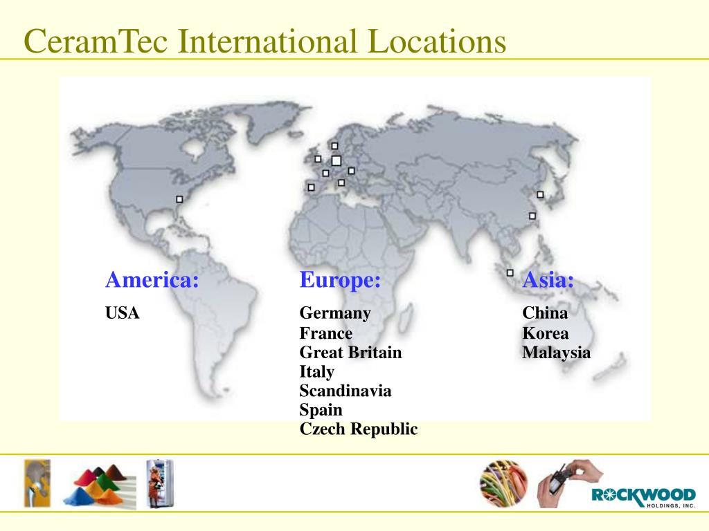 CeramTec International Locations