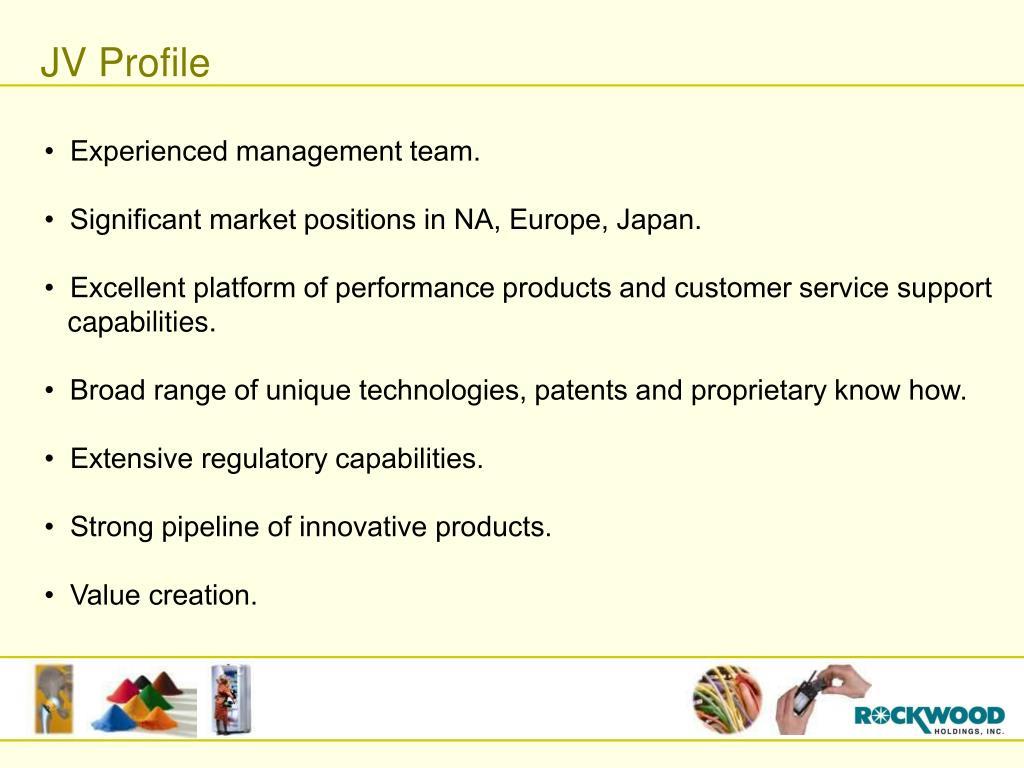 JV Profile