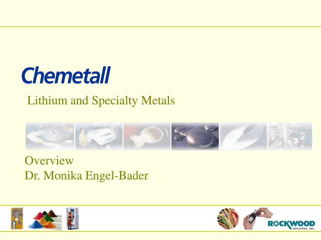 Lithium and Specialty Metals