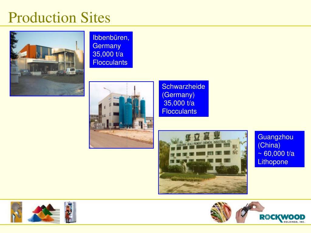 Production Sites