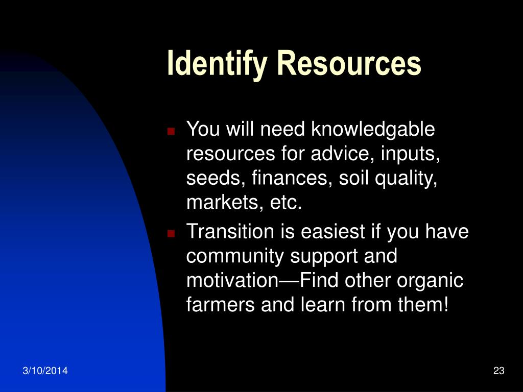 Identify Resources