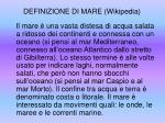 definizione di mare wikipedia