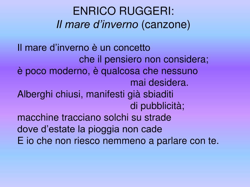 ENRICO RUGGERI:
