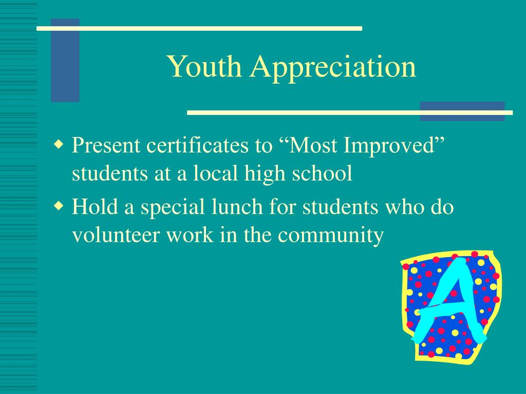 Youth Appreciation