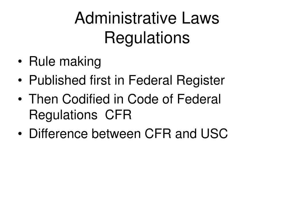 Administrative Laws