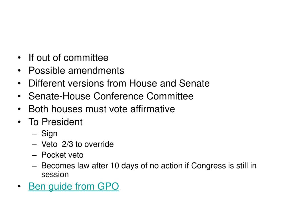 If out of committee