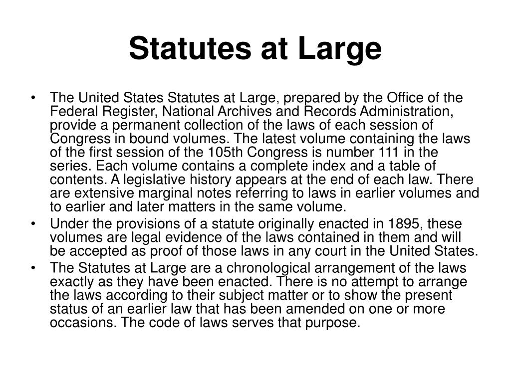 Statutes at Large