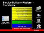 service delivery platform standards