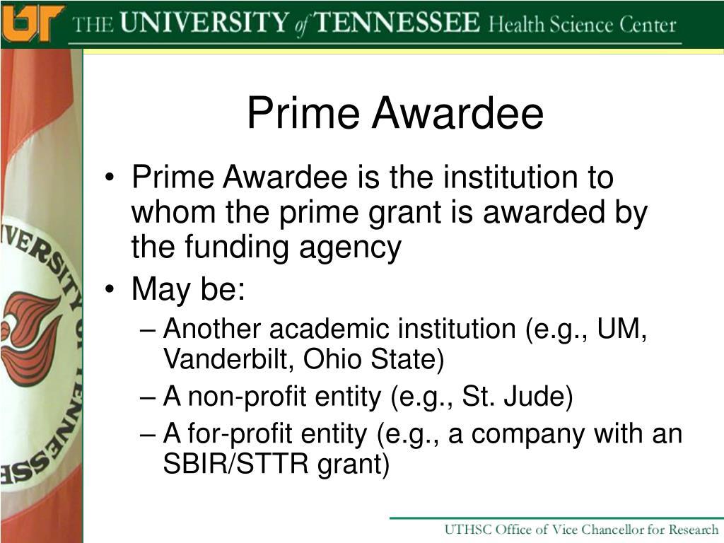 Prime Awardee