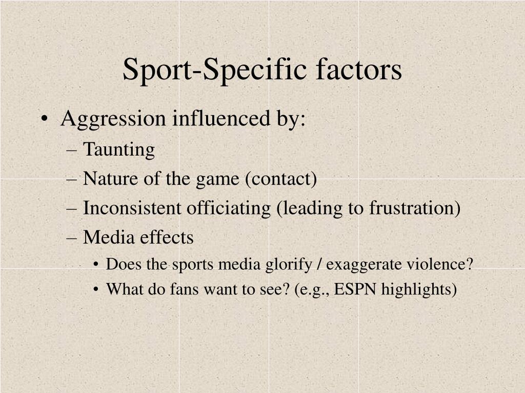 Sport-Specific factors
