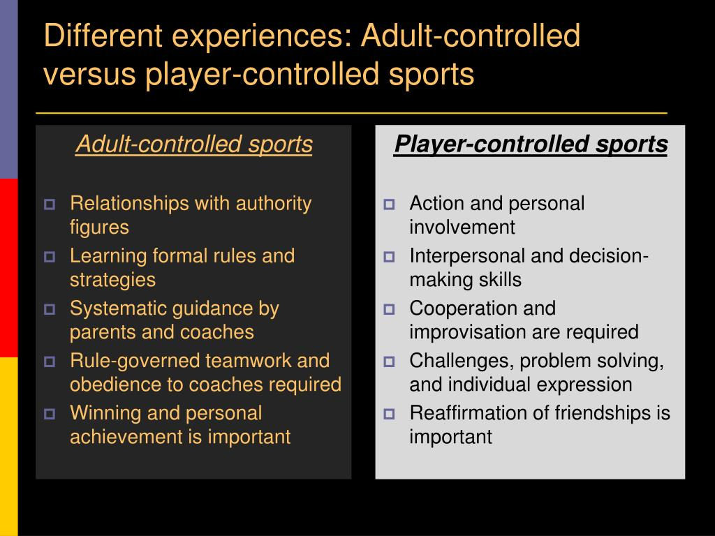 Adult-controlled sports