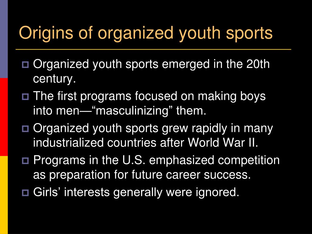 Origins of organized youth sports
