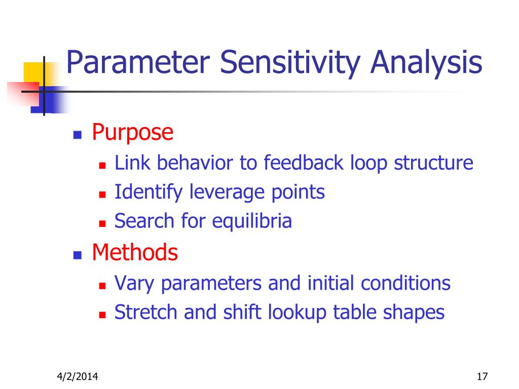 Parameter Sensitivity Analysis