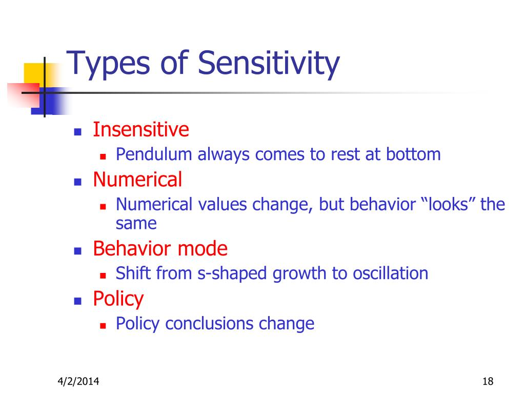 Types of Sensitivity