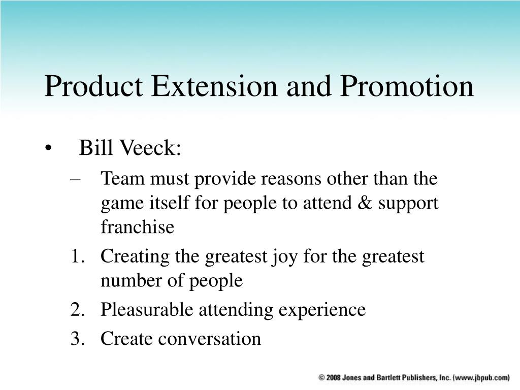 Product Extension and Promotion
