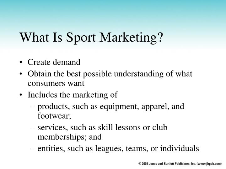 What is sport marketing