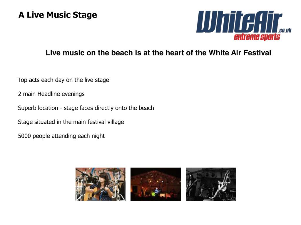 A Live Music Stage