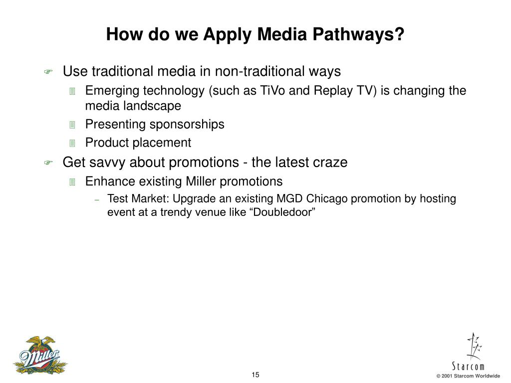 How do we Apply Media Pathways?