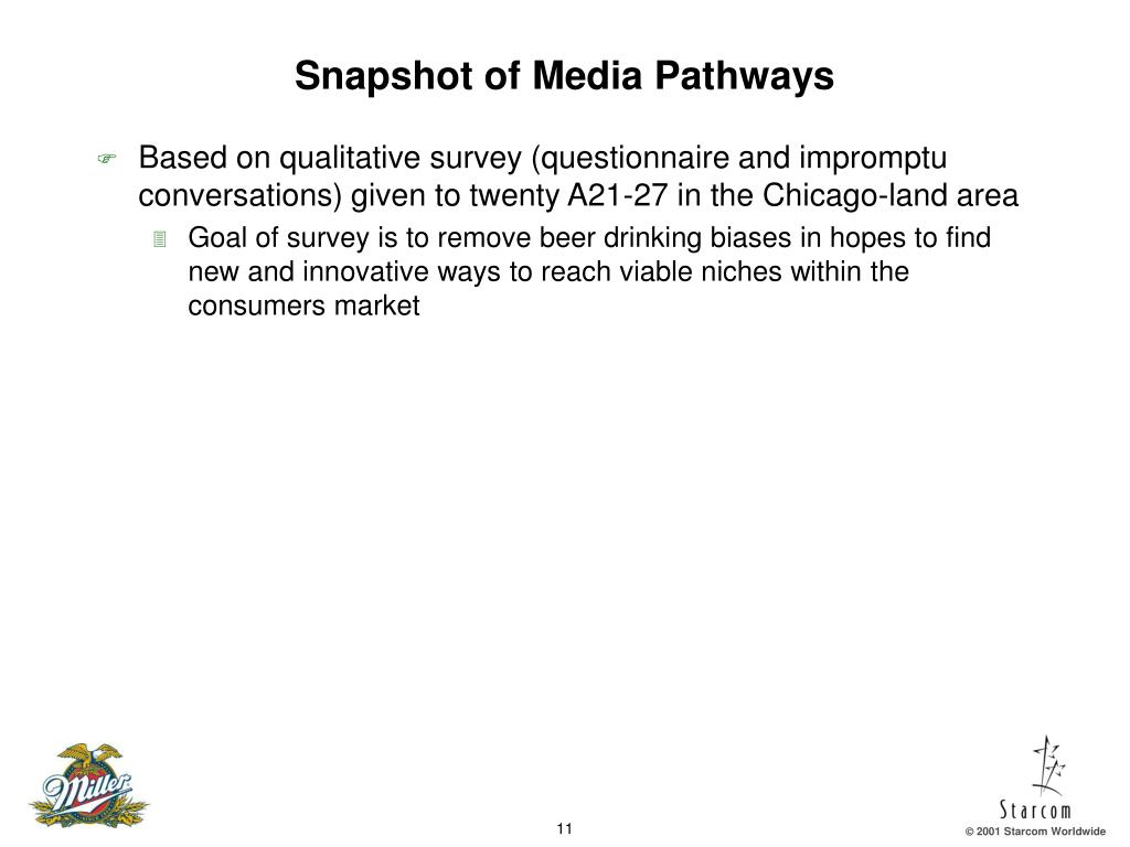 Snapshot of Media Pathways