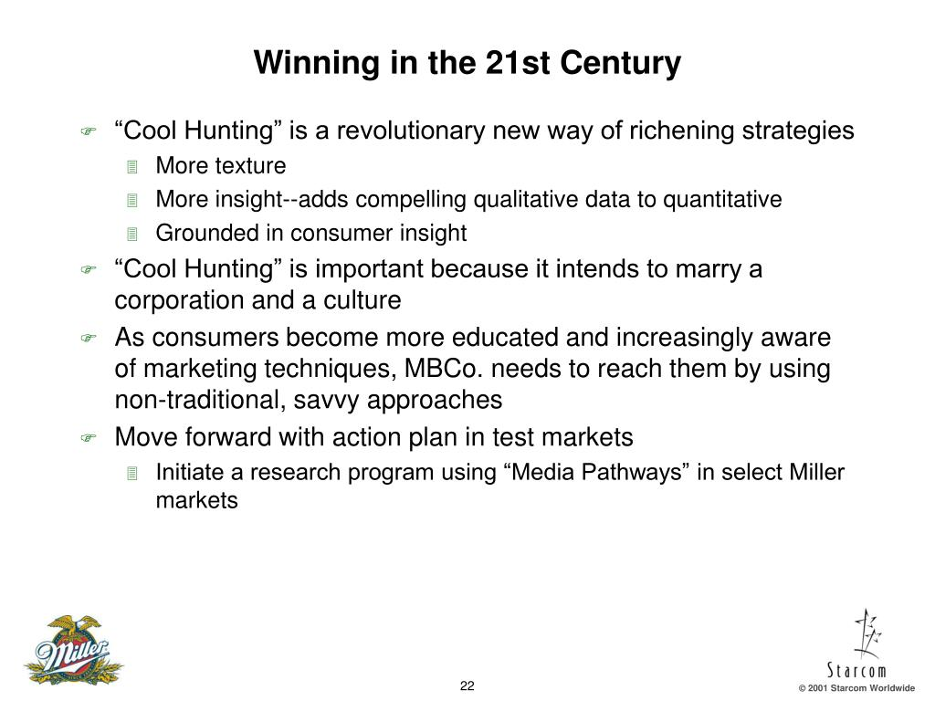 Winning in the 21st Century