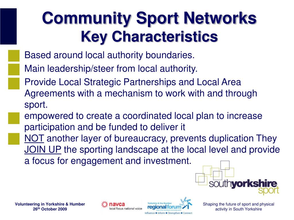 Community Sport Networks