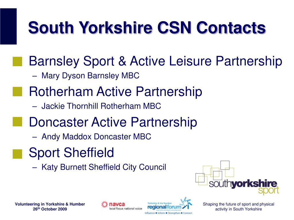 South Yorkshire CSN Contacts
