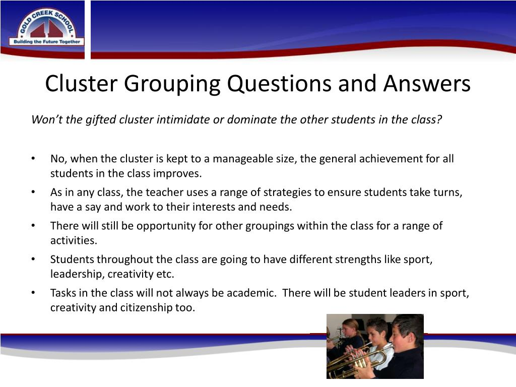 Cluster Grouping Questions and Answers