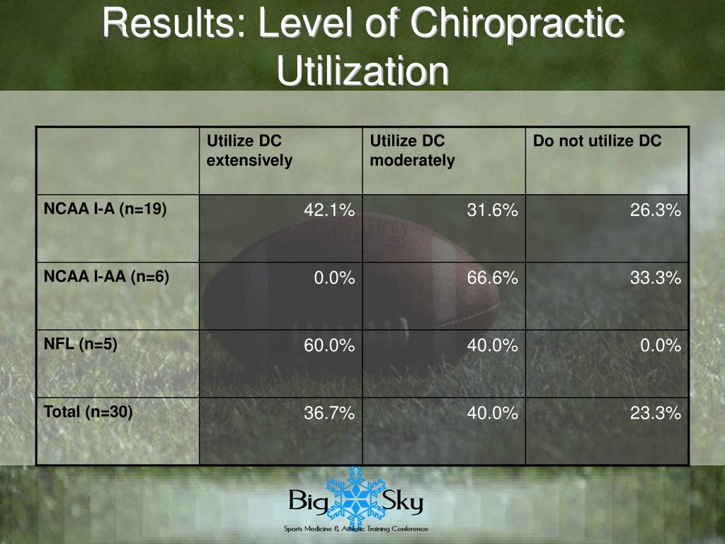 Results: Level of Chiropractic Utilization