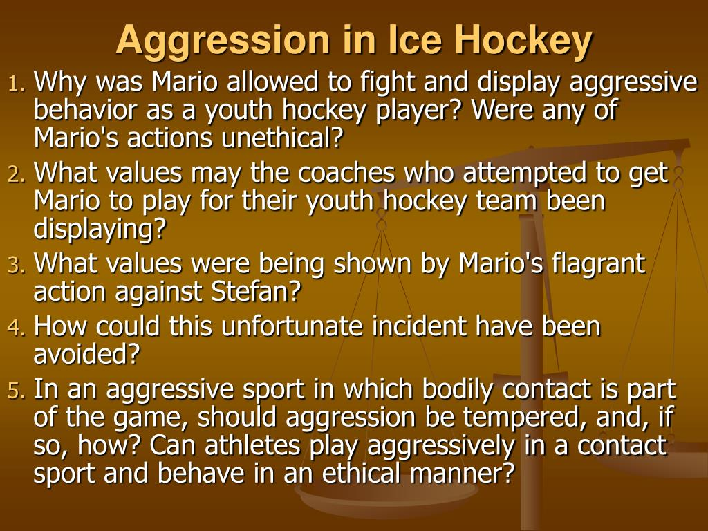 Aggression in Ice Hockey