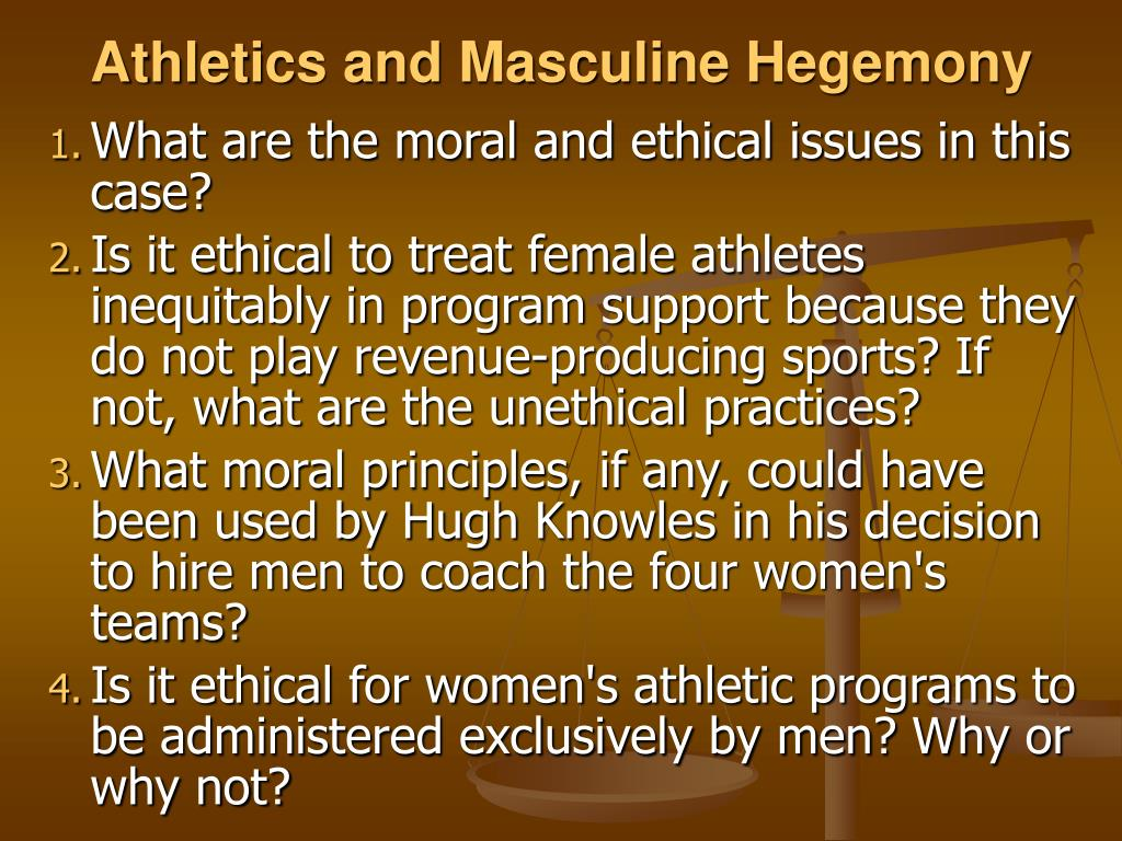 Athletics and Masculine Hegemony