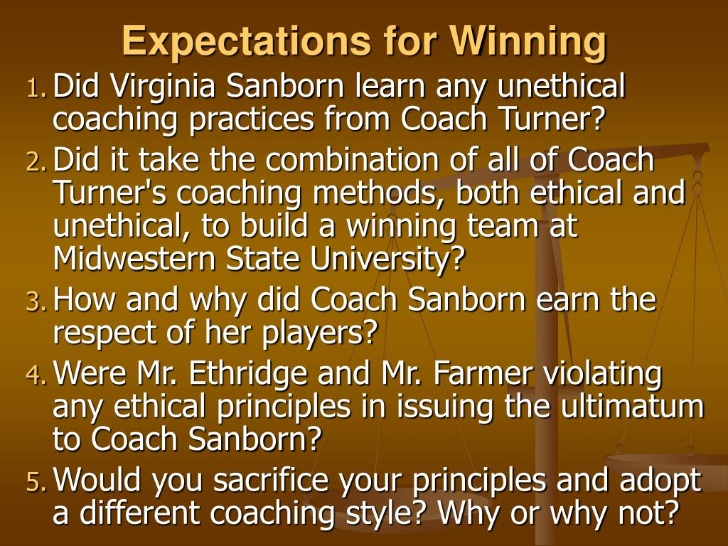 Expectations for Winning
