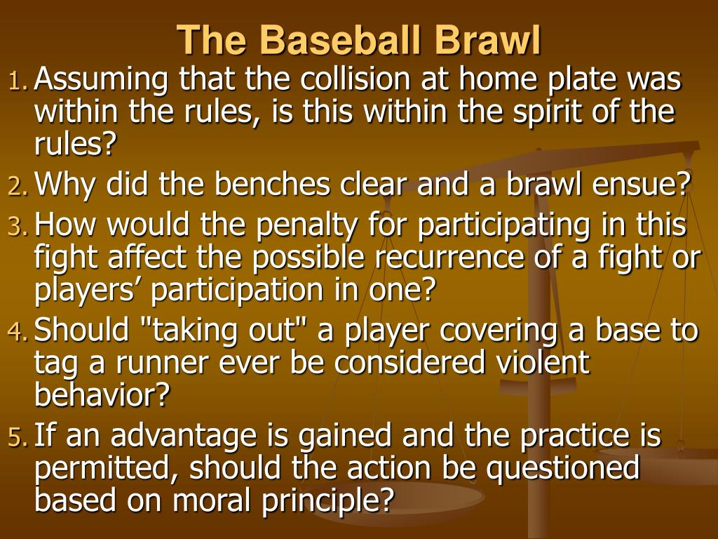 The Baseball Brawl