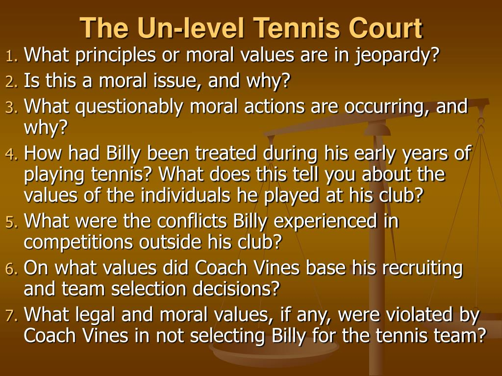 The Un-level Tennis Court
