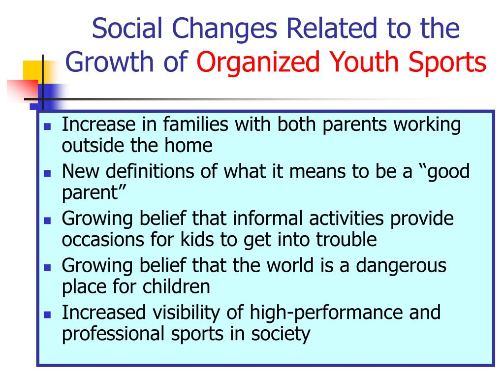 Social Changes Related to the Growth of