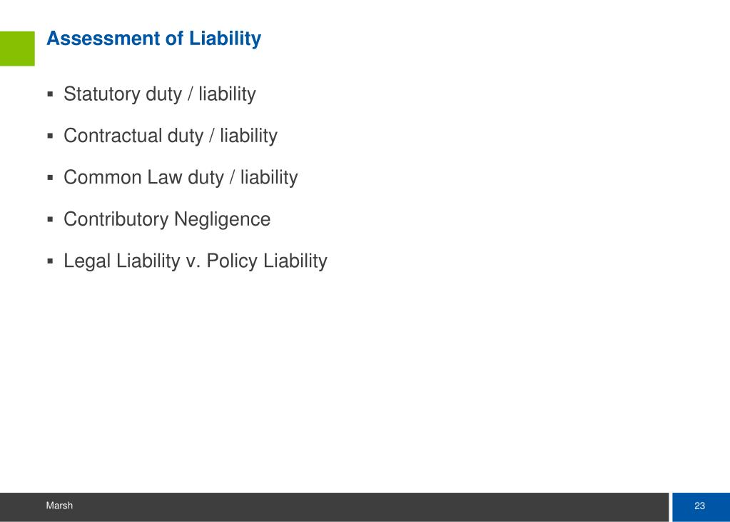 Assessment of Liability