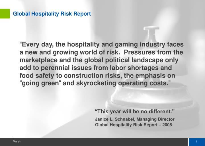 Global hospitality risk report