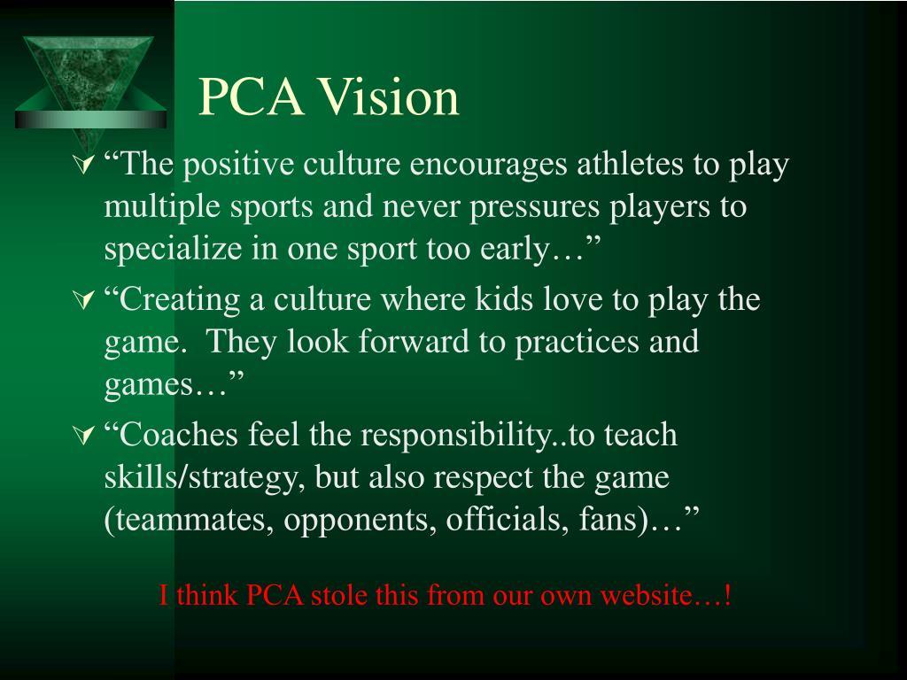 PCA Vision