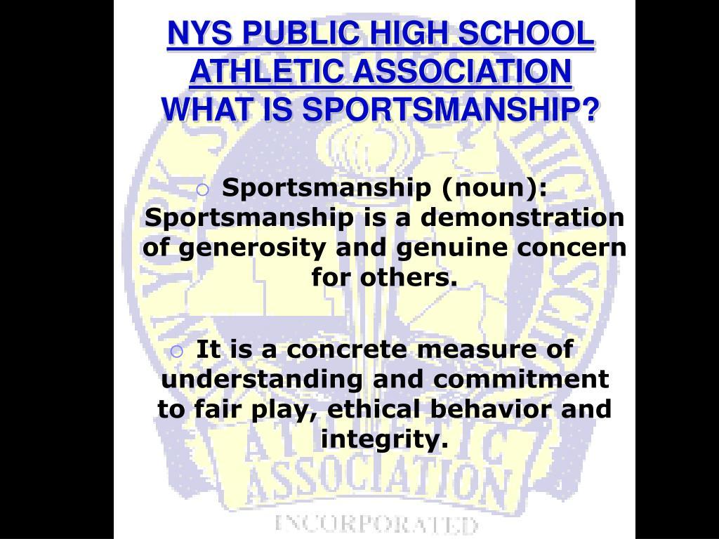 NYS PUBLIC HIGH SCHOOL ATHLETIC ASSOCIATION