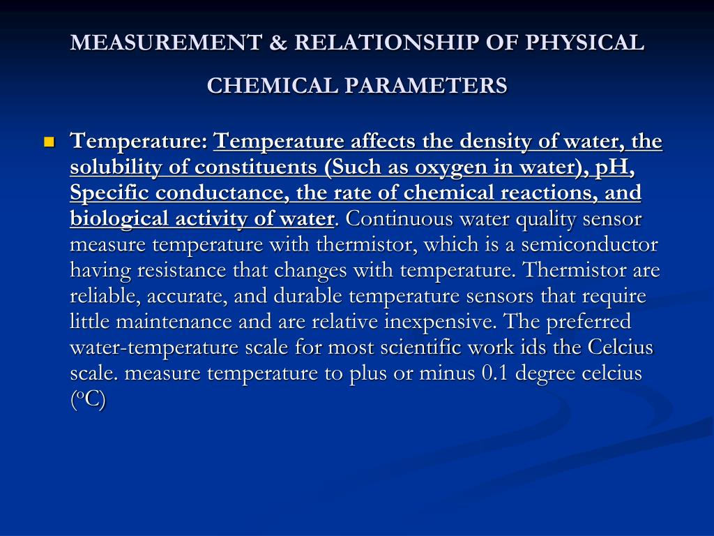chemical parameters of fresh waters Water sampling and analysis 51 4 this approach is sometimes called critical-parameter water if a full range of chemical analyses is undertaken on new water.