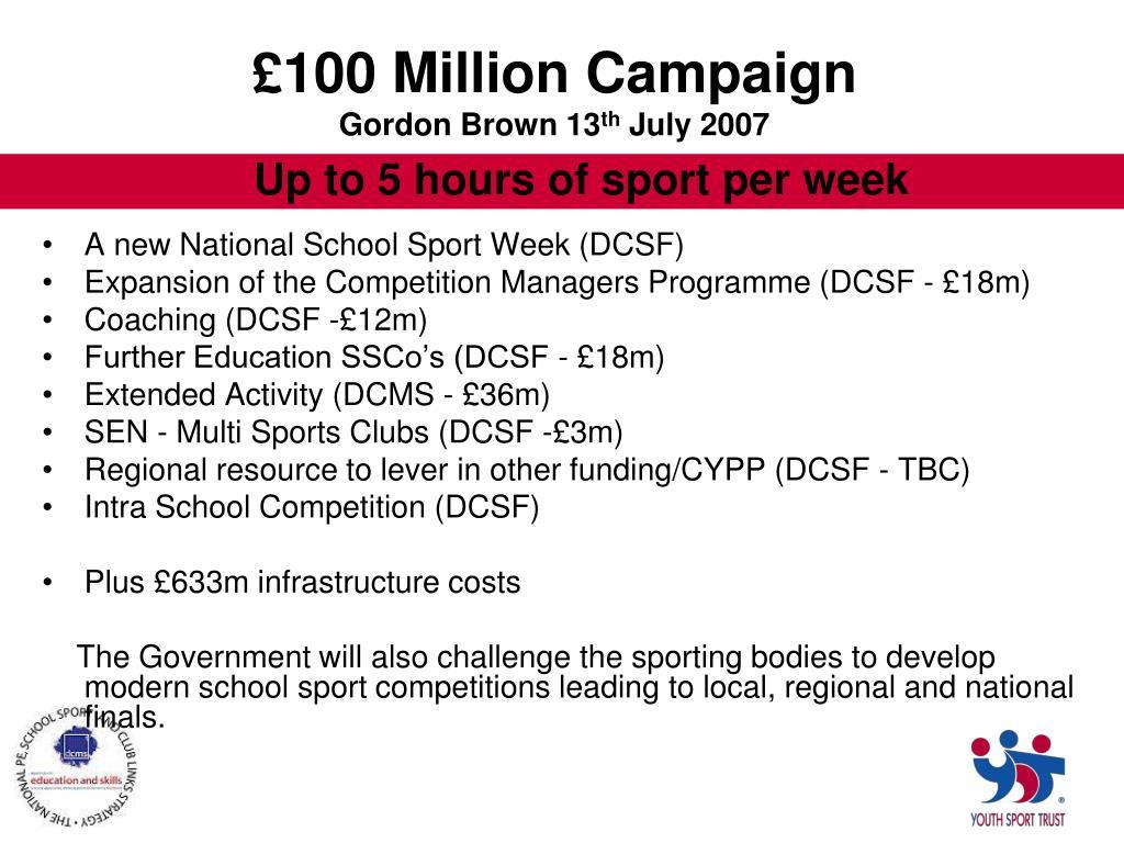 £100 Million Campaign