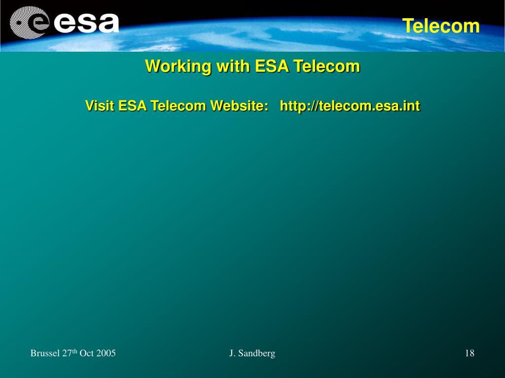 Working with ESA Telecom