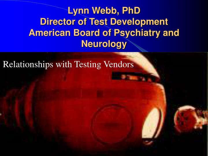 Lynn Webb, PhD