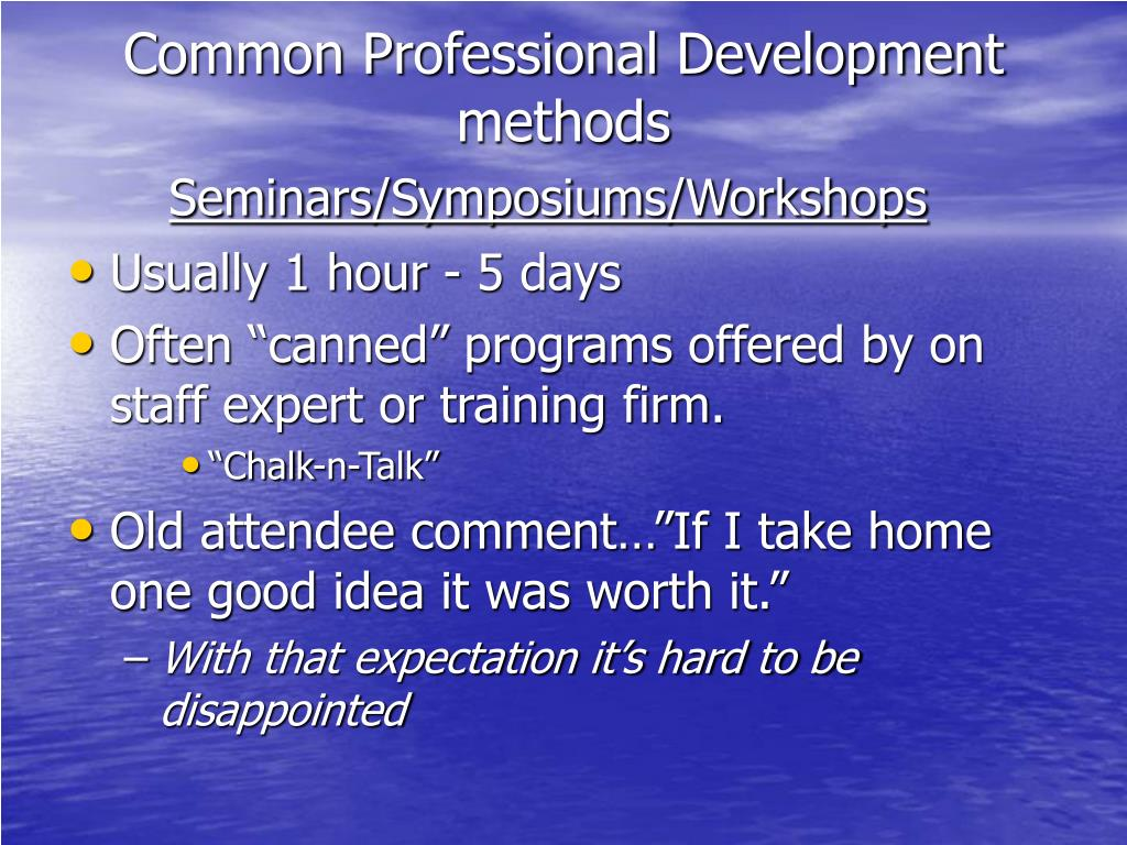Common Professional Development
