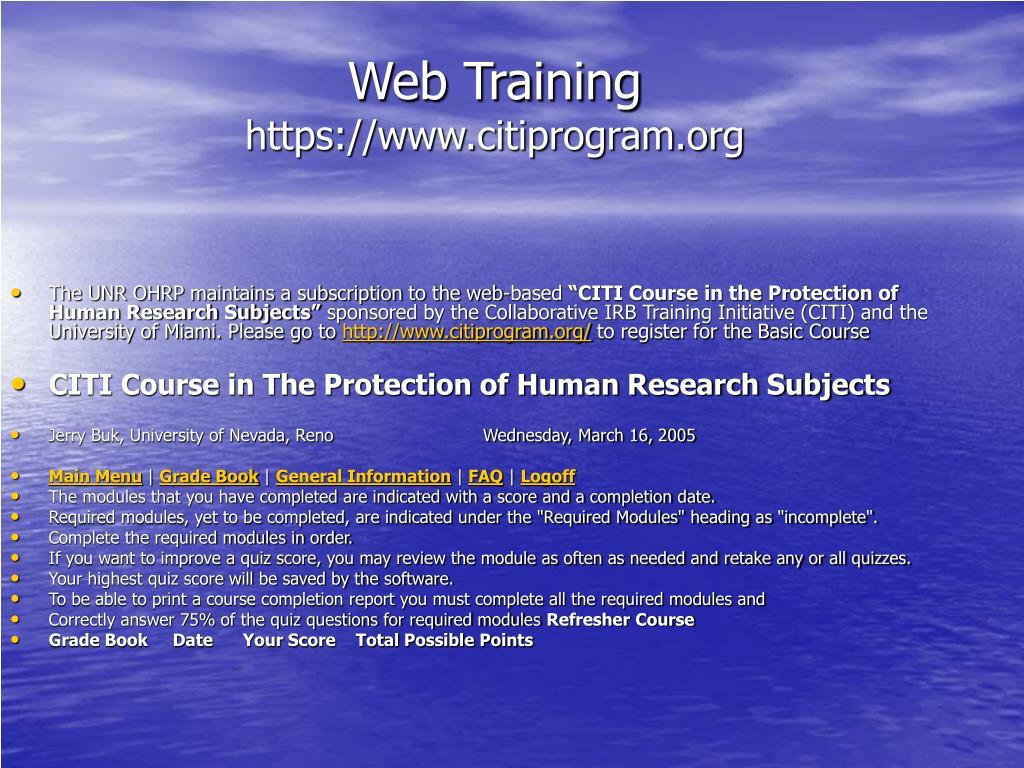 Web Training