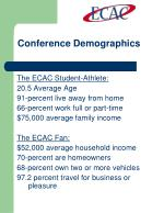 conference demographics