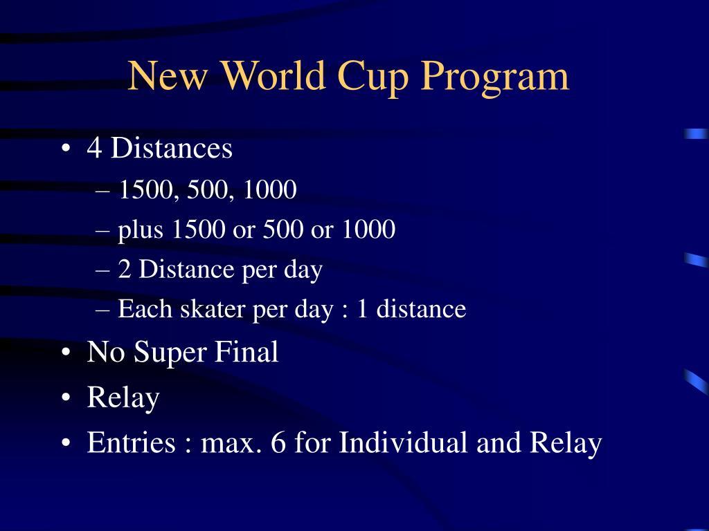 New World Cup Program