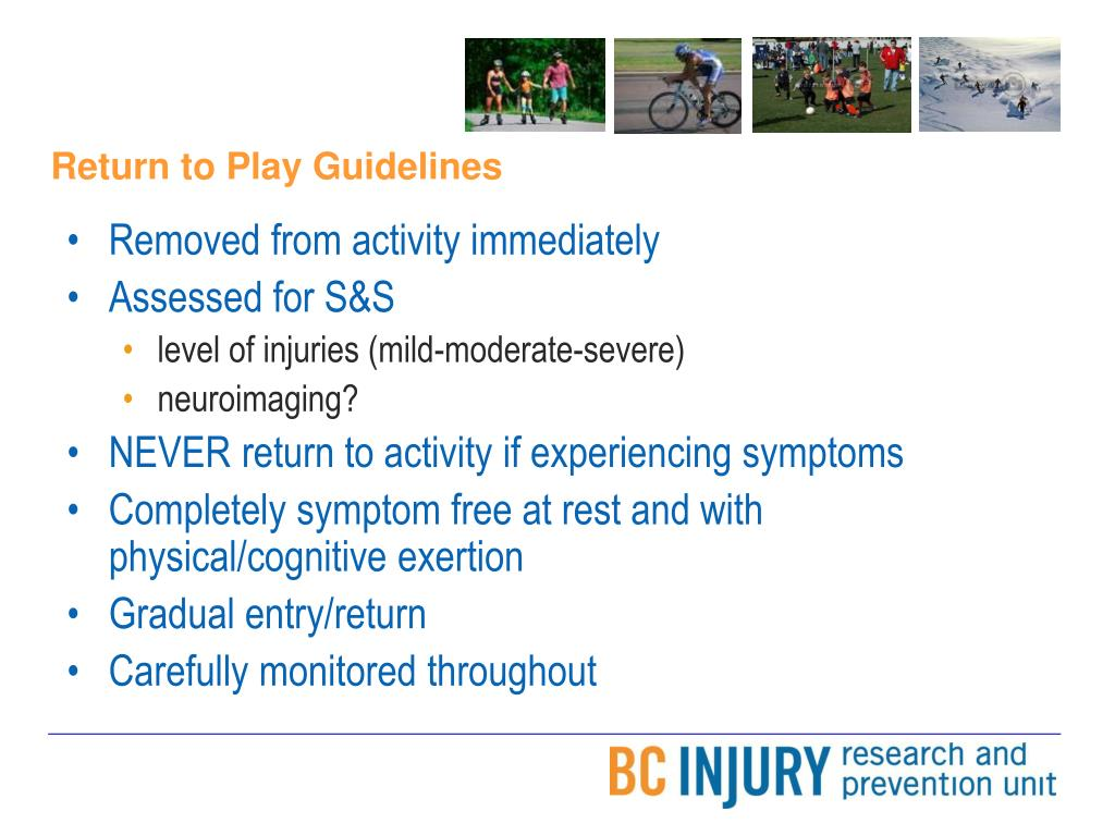 Return to Play Guidelines