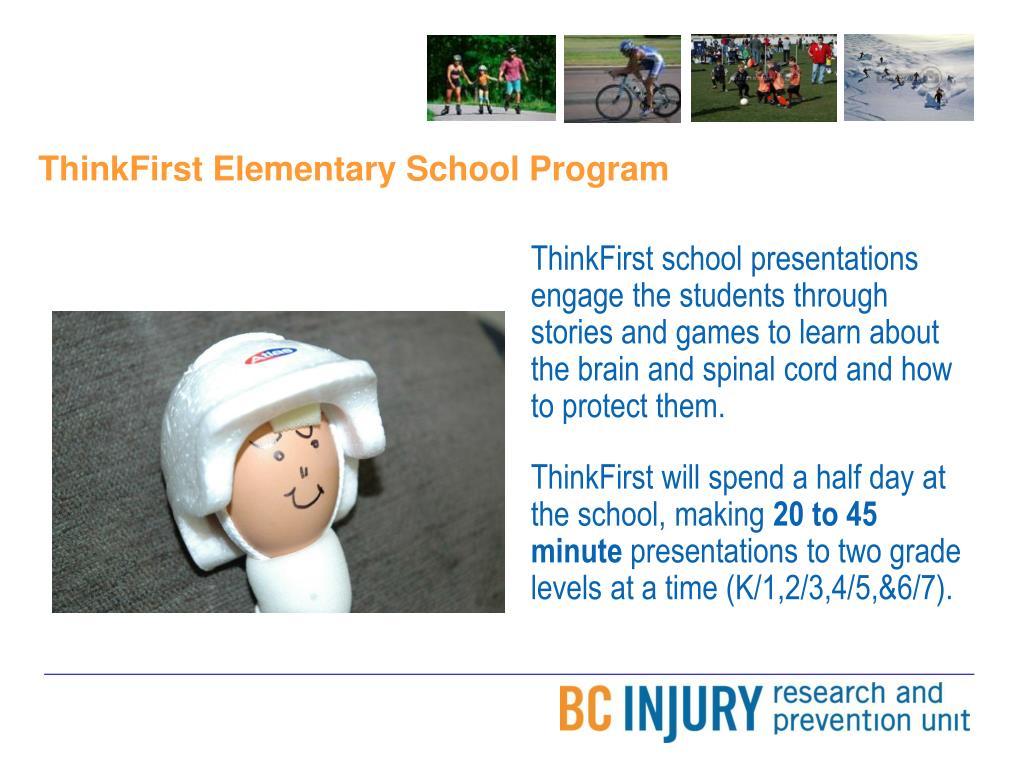 ThinkFirst Elementary School Program
